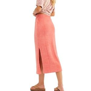 NWT Free People Helen Tube Midi Skirt